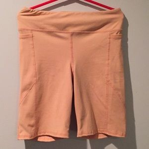 Biker peach short from UO.